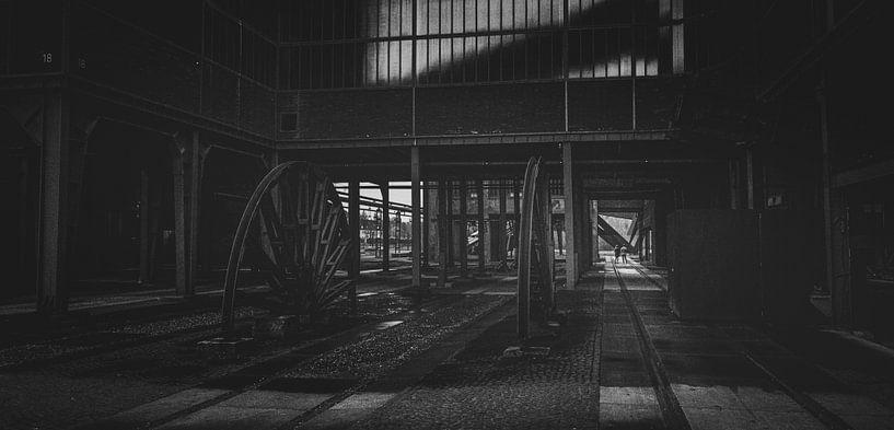 Zeche Zollverein in the dark zone von Jakob Baranowski - Off World Jack