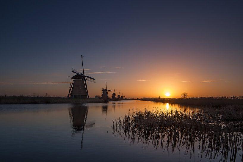 Kinderdijk Sunrise van Marc Smits