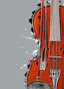 Geige Musik Kunst #Geige von JBJart Justyna Jaszke