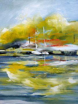 Promenade avec des bateaux à voile