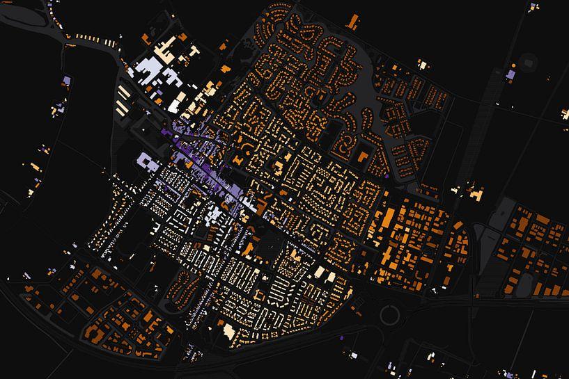 Kaart van Joure abstract van Stef Verdonk
