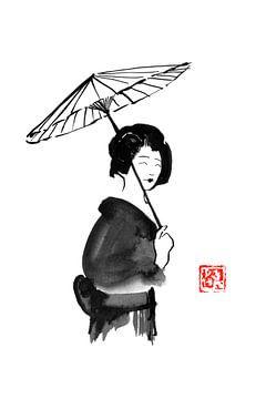 geisha onder paraplu van philippe imbert