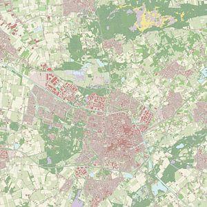 Kaart van Tilburg