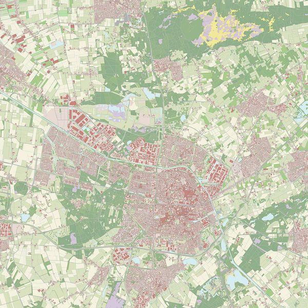 Kaart van Tilburg van Rebel Ontwerp