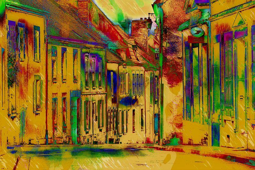 kleurrijk  dorp van Yvonne Blokland