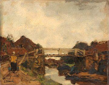Holzbrücke über einen Kanal bei Rijswijk, Jacob Maris