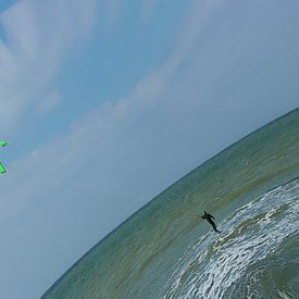 de kitesurfer van Yvonne Blokland