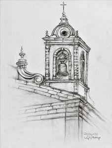 Kirchturm in Lagos/ Potugal