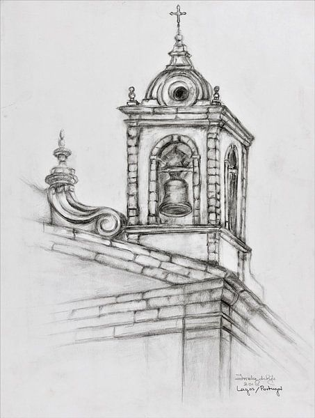 Kirchturm in Lagos/ Potugal von Ineke de Rijk