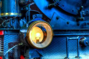 HDR Lamp stoomlocomotief van