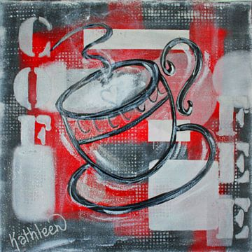 Ochtend Koffie van Kathleen Artist Fine Art