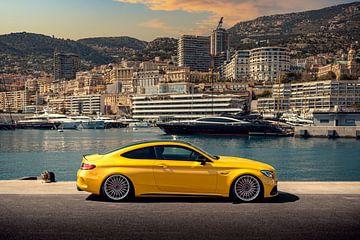 Mercedes C63 AMG in Monaco van Ricardo van de Bor