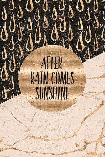 GRAPHIC ART After rain comes sunshine von Melanie Viola