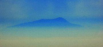 Berg Eiland Mist - Ischia Italië van Dirk van der Ven