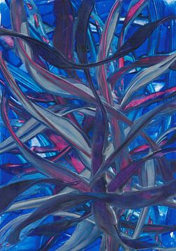 Blauwpaarse bladeren van Bethina de Reus