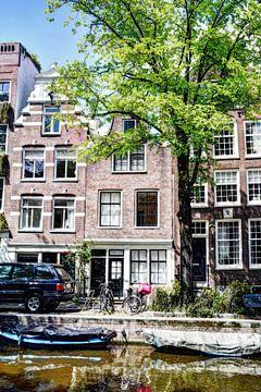 Nummer 1 Egelantiersgracht 54 Huis Color Artistic sur Hendrik-Jan Kornelis