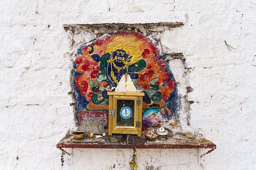 Muur altaar in Tibet