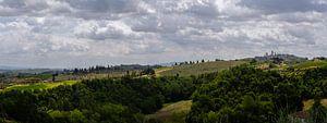 San Gimignano en omgeving - Toscane - Italie - panorama van