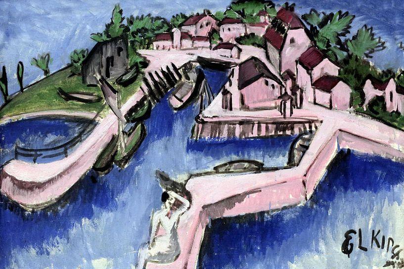 Ernst Kirchner, Fehmarner Hafen, 1913 von Atelier Liesjes
