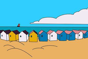 Strandhuisjes van MishMash van Heukelom