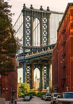 Manhattan Bridge von Dumbo von Remco Piet