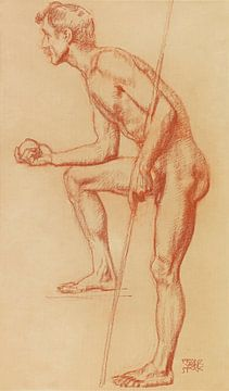 Stehender Mann mit Apfel und Lanze, Franz von Stuck, Um 1919-1923 von Atelier Liesjes