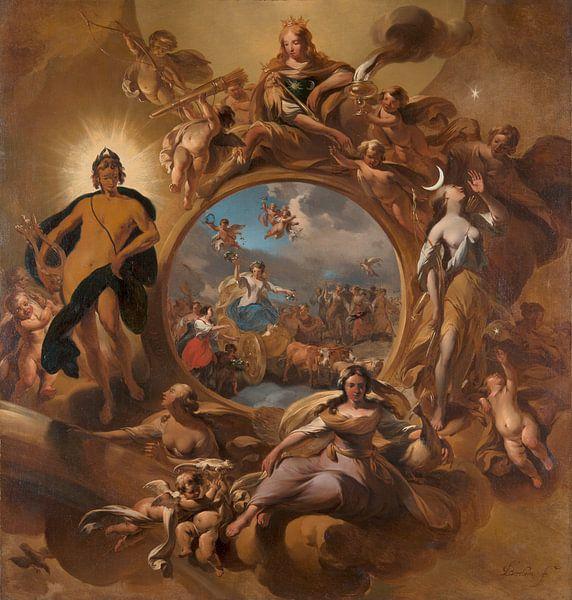 Allegory of Spring, Nicolaes Pietersz Berchem von Meesterlijcke Meesters