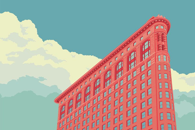 Flatiron building NYC landscape von Remko Heemskerk