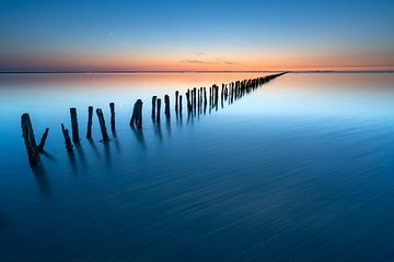 Kalme zonsondergang aan het Wad