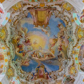 Interieur van de Wieskirche