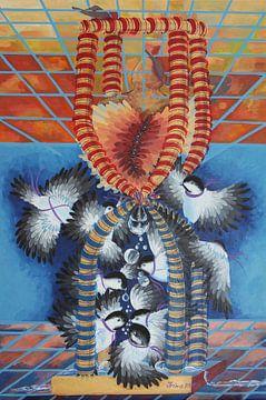 Tröpfchen Chickadees von Irina Corduban