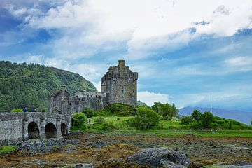 Le château d'Eilean en Écosse sur