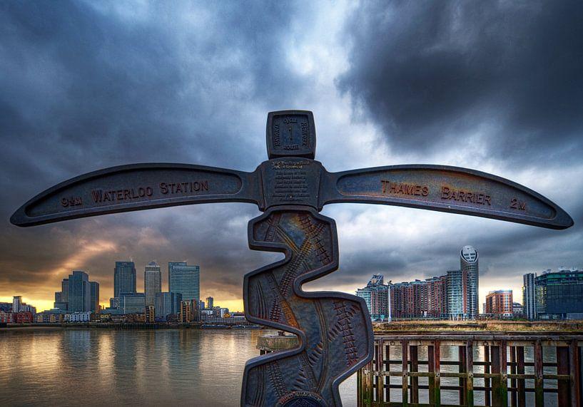 Canary Wharf view / London van Rob de Voogd / zzapback