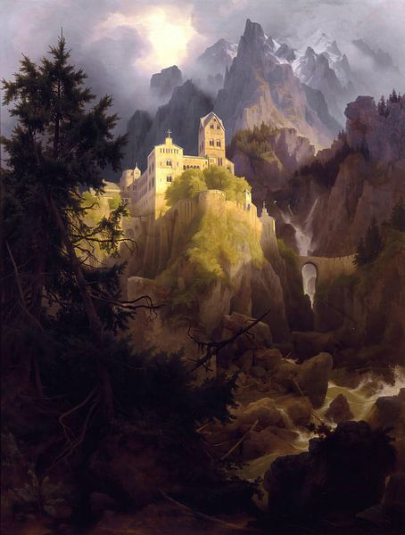 Karl Eduard Biermann- Das Kloster Burgis in Tirol von finemasterpiece