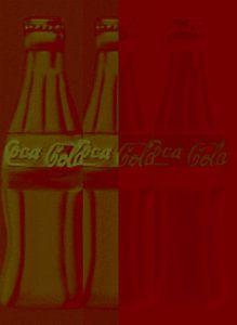 Coca Cola Negativ Film Pop Art PUR