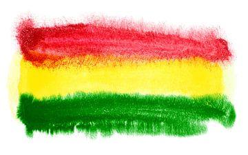 Symbolische nationale vlag van Bolivia van Achim Prill