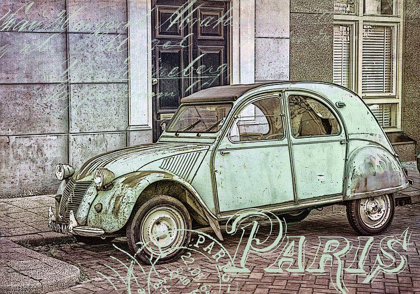 Historische 2CV Citroen in Parijs van Andrea Haase