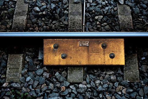 Tussen de rails (station Hilversum) van