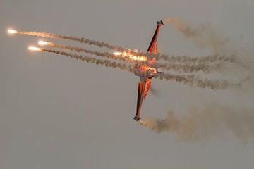 Nederlandse F16 flares sur Erwin Stevens