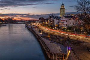 Deventer aan de IJssel bij zonsondergang