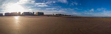 Strand im Herbstsonnenlicht von Youri Mahieu