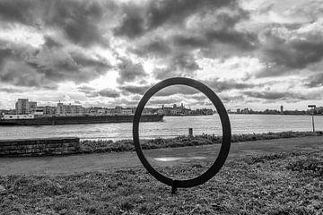 zicht op Dordrecht van Pixel Meeting Point