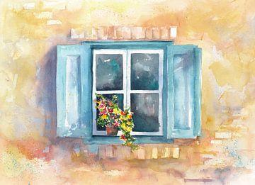 Blumenfenster van Jitka Krause