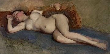 Nackt, liegend - Frank Duveneck - 1892 von Atelier Liesjes