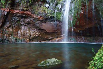 Waterval in Madeira van Michel van Kooten