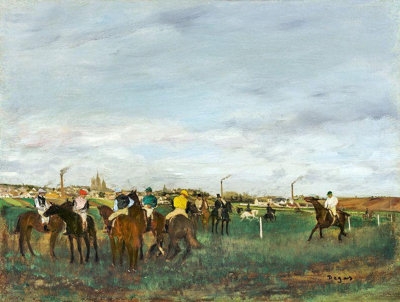 De race, Edgar Degas (ca. 1871–1872) van Atelier Liesjes