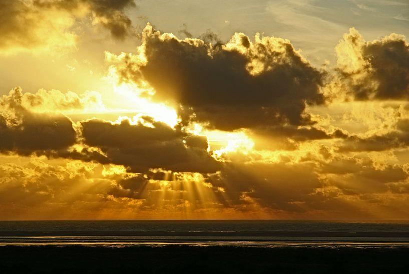 Zonsondergang aan zee von Gerjo Radema