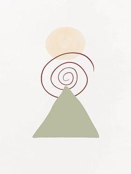Modern Abstrakte Formen von Studio Malabar