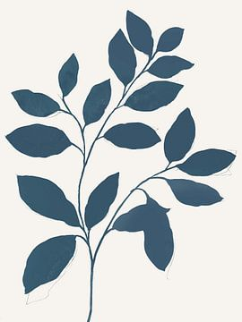 Blau Zweig I, Isabelle Z  von PI Creative Art