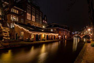 Twijnstraat aan de Werf in de avond van zeilstrafotografie.nl